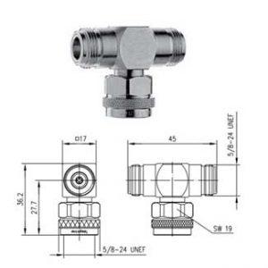 Telegartner Trójnik Wtyk N 2x N gniazdo J01024J1120