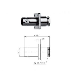 BNC Gniazdo Panelowe Telegartner J01001A0036