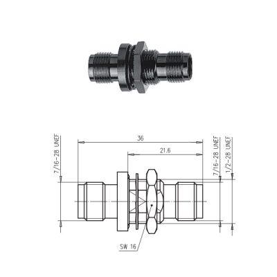 TNC Gniazdo przelotowe Telegartner J01014A2233