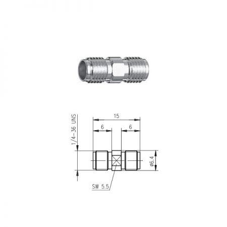 SMA Gniazdo Gniazdo Beczka Telegartner J01154A0001