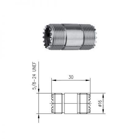 UHF Gniazdo Gniazdo Beczka Telegartner J01042A0637